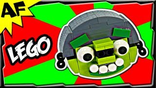 HELMET PIG - Lego Angry Birds Animated Review with Building Instructions