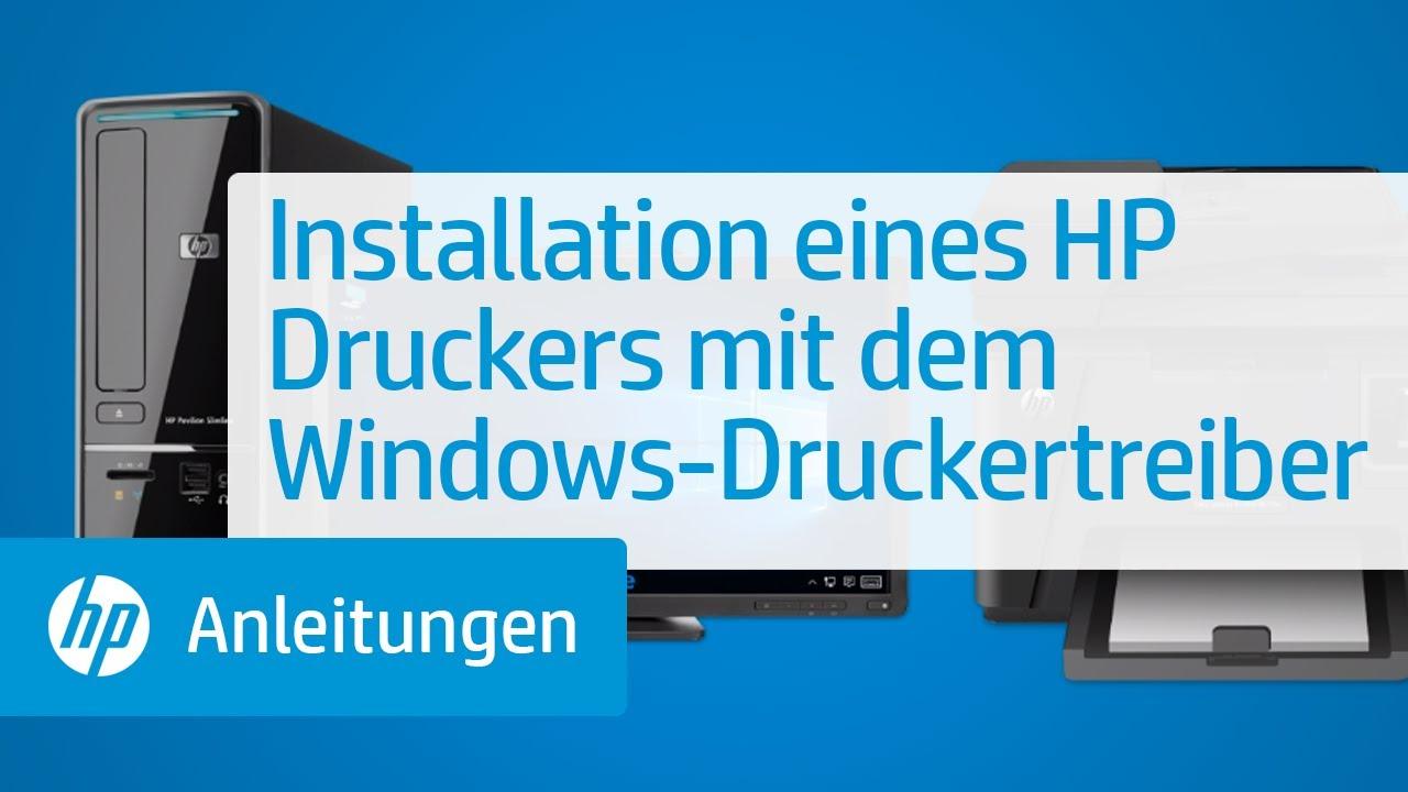 HP Drucker - Installieren und Verwenden des in Windows