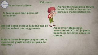 Французский 6 Comment est ton école Рассказ о школе