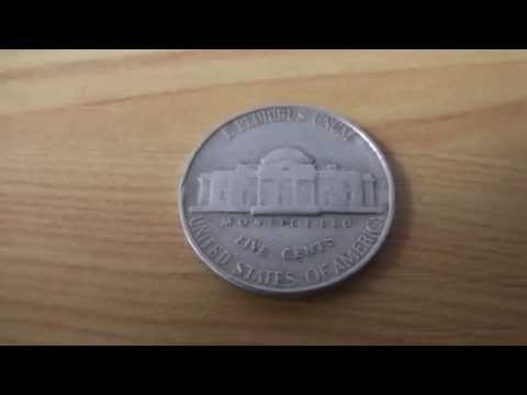 Monticello - 5 Cents coin of the USA from 1946 in HD