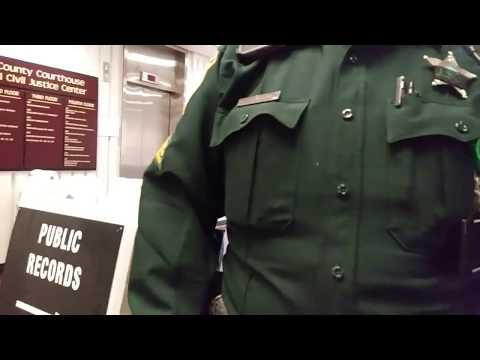 1st amendment audit, Alachua county courthouse, Butt hurt Sargent!!