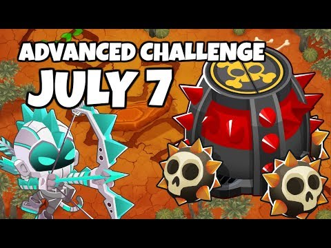 BTD6 Advanced Challenge - 50% Blsp 170% Msp 85% Mhp Support Only - July 7 2019