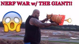 nerf war attack the giant jake gun fire battle heavy combat beware funkee bunch