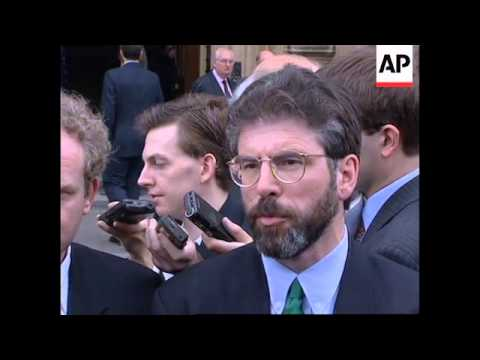 UK: LONDON: GERRY ADAMS IS BANNED FROM...