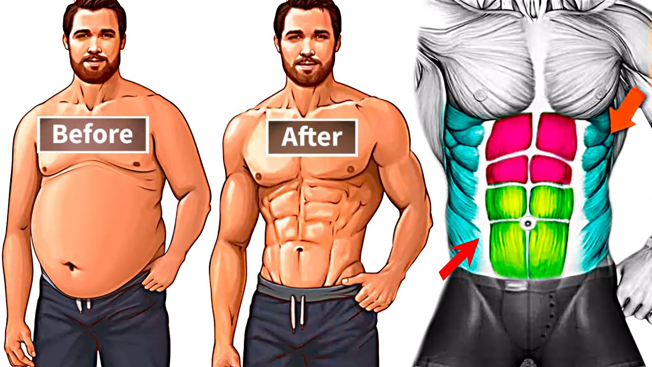 10 Best Exercises for Weight Loss (ABS & Obliques)