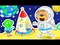 Lion Family One Small Step on the Moon Cartoon for Kids