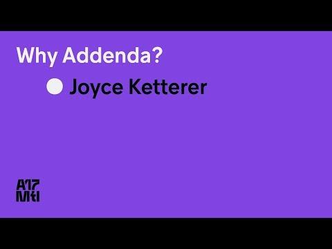 Why Addenda? - Joyce Ketterer - ATypI 2017