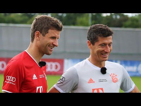 Penalty Challenge – Thomas Müller vs. Robert Lewandowski