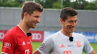 Penalty Challenge - Thomas Müller vs. Robert Lewandowski