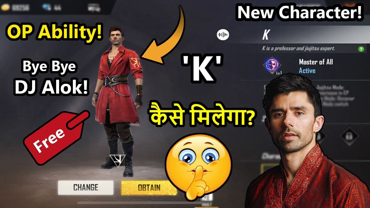 How To Get K Character In Free Fire Free Fire Tonight Update Free Fire New Events 2020 Youtube