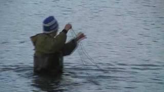 риболовля на озері тундри - Якутія.Аві
