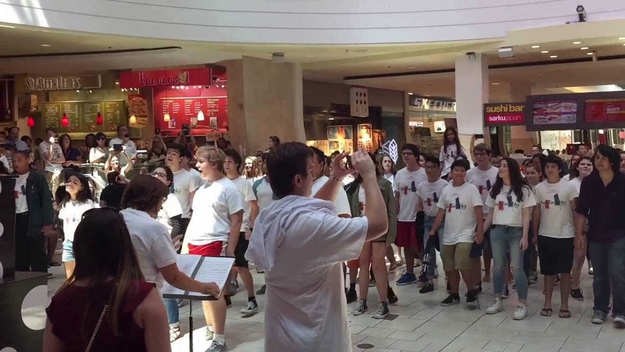 Best les miserables flash mob gsp youtube for Alexander s mural paramus