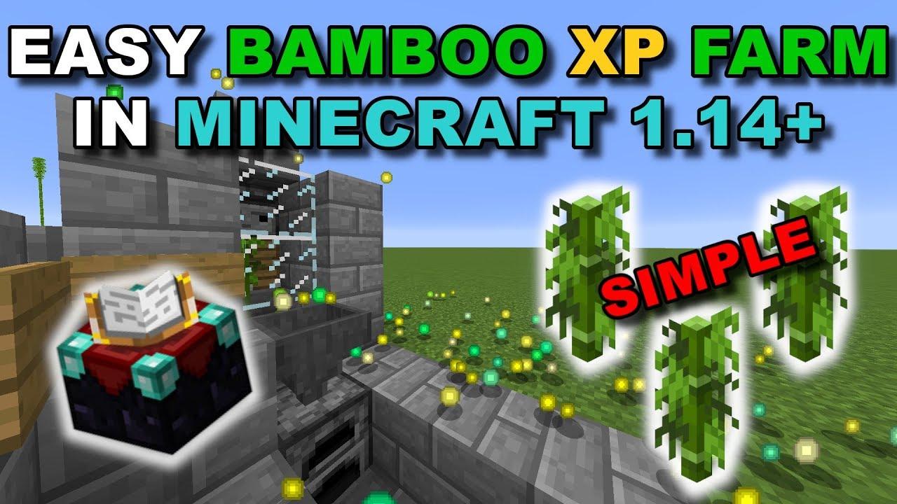 (1 14+) Simple Bamboo XP Farm (Very Easy) - Minecraft Tutorial