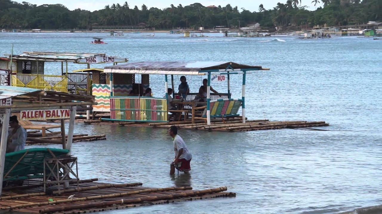 Philippines Batangas floating house boats Matabungkay beach