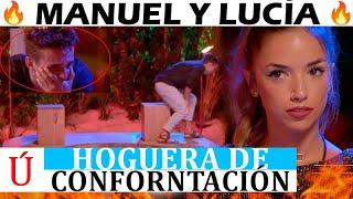 ¡Wow! Lo que sucede en la hoguera de confrontación de Lucía y Manuel en La isla de las tentaciones