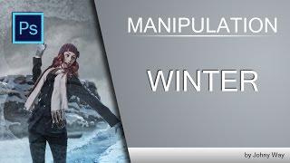 Уроки Фотошопа | Коллаж Winter Manipulation