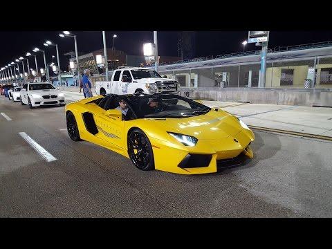 Lamborghini VS Bugatti VS Porsche 918 VS Pagani Huayra RACING at Halloween Supercar RUN 2016