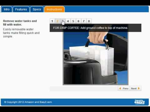 Delonghi BCO264B Cafe Nero Combo Coffee and Espresso Maker - YouTube