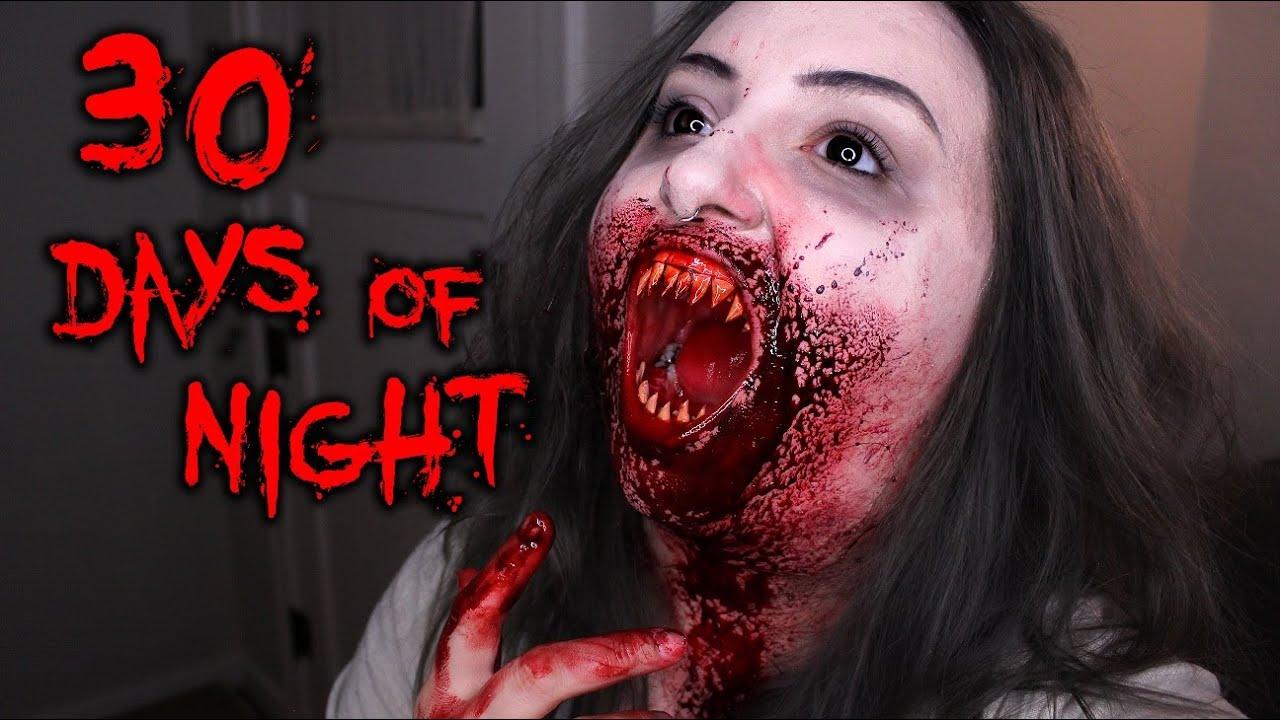 30 DAYS OF NIGHT | Halloween Costume Makeup Tutorial ...