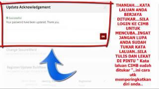 cimb #click reset password user id | cara nak tukar user id cimb
