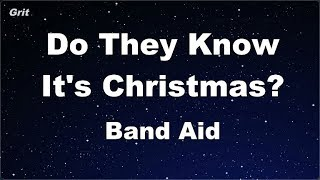 Karaoke♬ Do They Know It's Christmas? (1984 Version)  - Band Aid 【No Guide Melody】 Instrumental