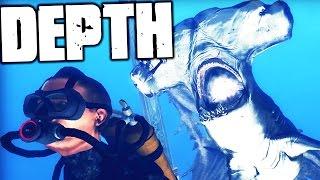 Depth - NEW GAME TYPE TEAMS SHARKS & HUMANS UP TOGETHER! - (Depth Gameplay)