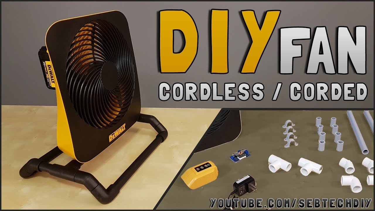 DIY : How to Make Cordless Portable Fan