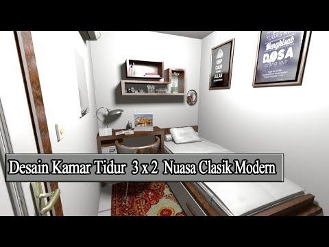 Interior Kamar Tidur Minimalis Ukuran 3x2 Rumah Joglo Limasan Work