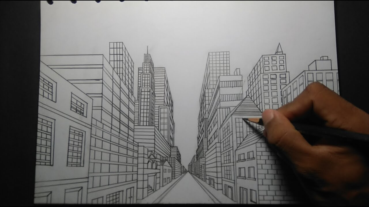 Cara Menggambar Gedung Bertingkat How To Draw A Storied Building