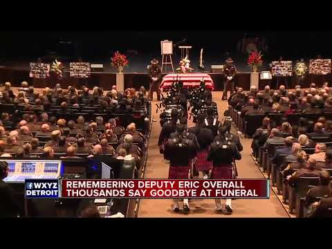 Thousands gather for funeral of fallen Oakland County Deputy Eric Overall