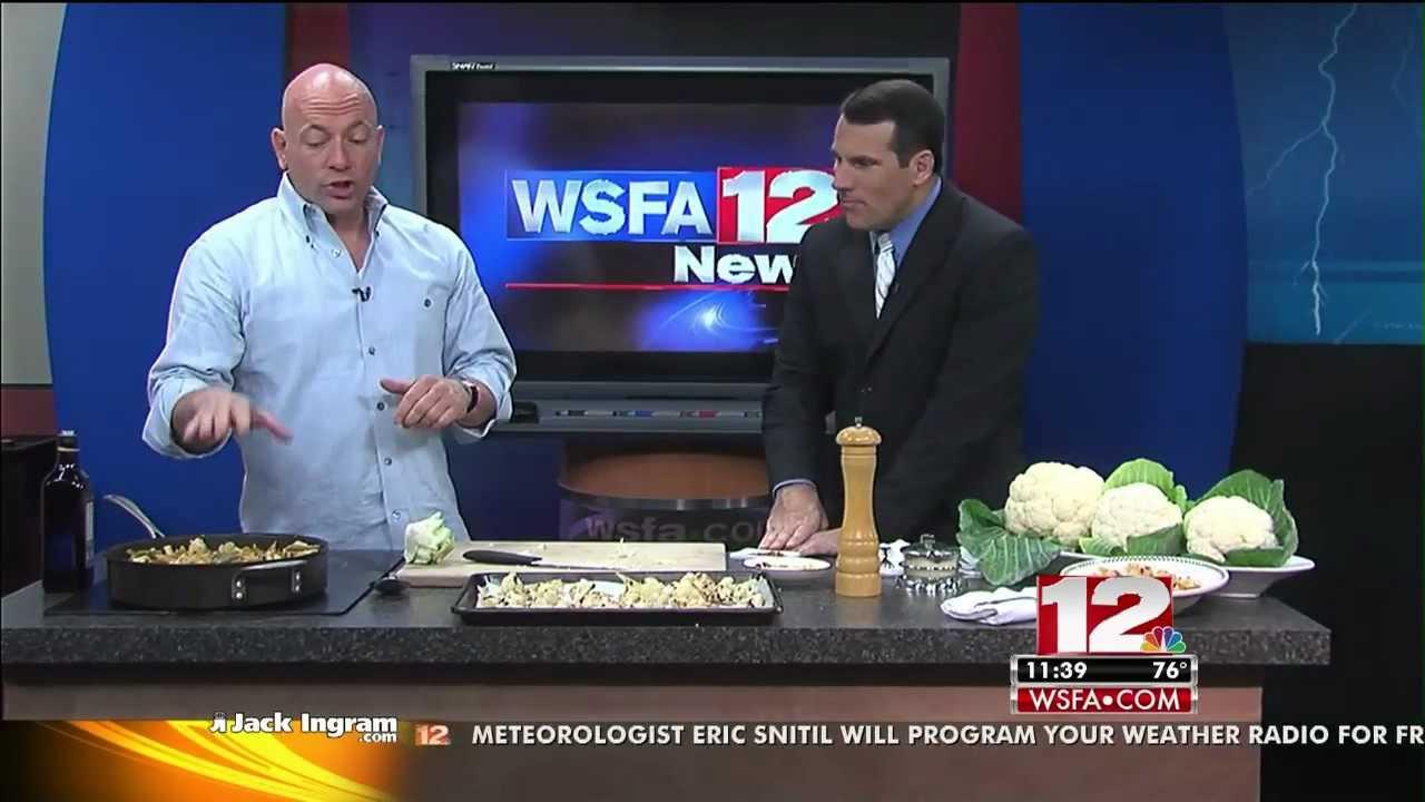 Mark Leslie cooks with Cauliflower on WSFA-12's