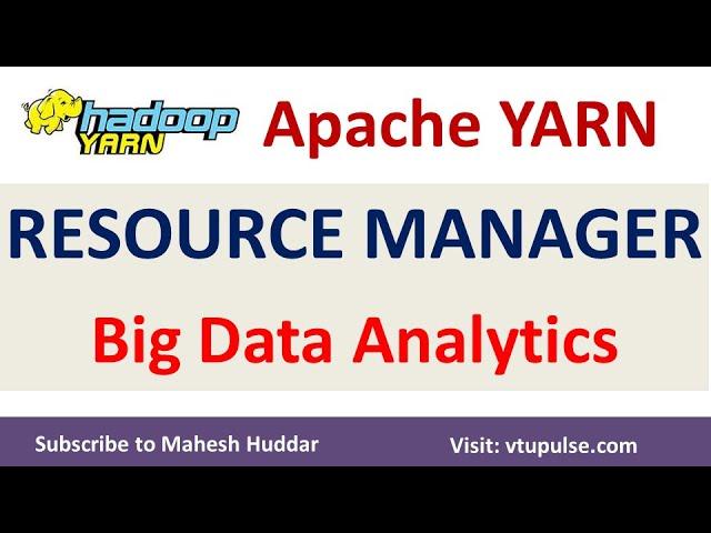 Apache YARN Resource Manager - Big Data Analytics Tutorial by Mahesh Huddar