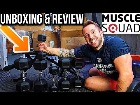 MUSCLESQUAD Hex Dumbbells Unboxing & Review