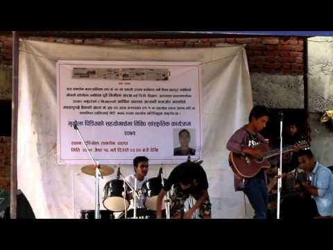 Kushal Shrestha Perfoming Own Song Tasbir
