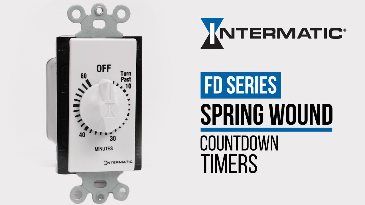 intermatic fd series spring wound countdown timers [ 1280 x 720 Pixel ]