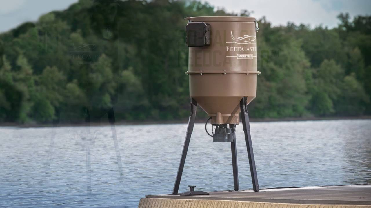 Image gallery moultrie fish feeders for Automatic pond fish feeder