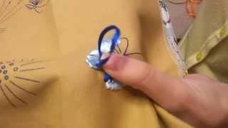 Уроки по вышивке лентами - Шов