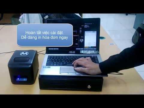 Phần mềm bán hàng MAYBANHANG.NET - Cài đặt két đựng tiền với máy in