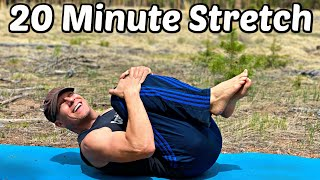 20 min Yoga Hip & Back Stretch for Pain Relief (Full Body Flexibility) Sean Vigue Fitness