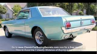 1965 Ford Mustang GT A Code Classic Muscle Car for Sale in MI Vanguard Motor Sales