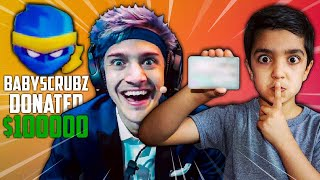 MY 5 YEAR OLD LITTLE BROTHER DONATES TO FORTNITE TWITCH STREAMERS | DONATE TO NINJA WITH CREDIT CARD