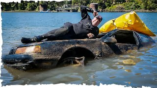 FOUND GRANDPA'S COUGAR Car Sunk in River 25' Deep at Boat Launch!