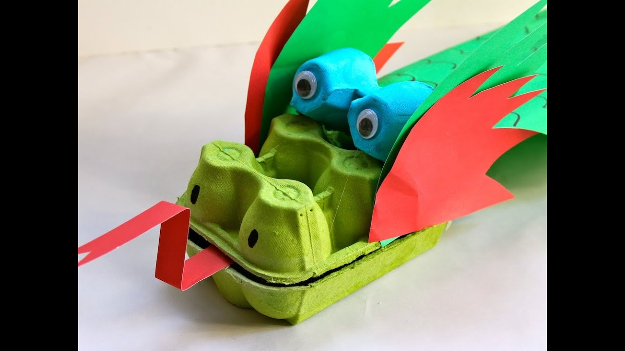 How To Make An Egg Carton Dragon Youtube