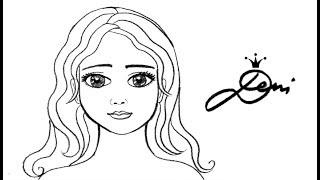 zeichnen lernen haare zeichnen einfache frisur malen lernen diy zeichnung. Black Bedroom Furniture Sets. Home Design Ideas