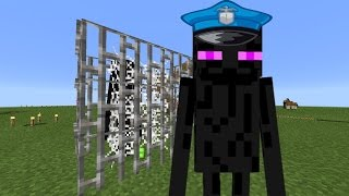 Minecraft pocket edition 0.15.0  Carcel para enderman Pequeña construccion
