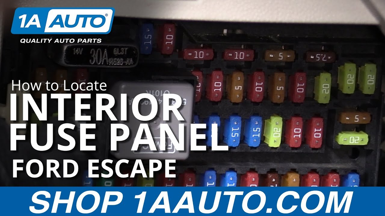 How To Locate Interior Fuse Panel 08-12 Ford Escape