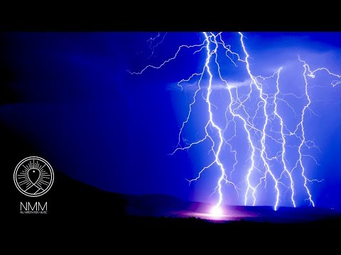 Thunderstorm Sounds and Distant Flute: sleep sounds meditation