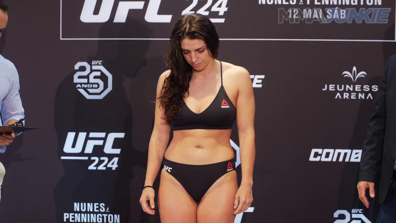 Upcoming Ufc Events 2018 >> UFC 224: Mackenzie Dern official weigh in highlight - YouTube