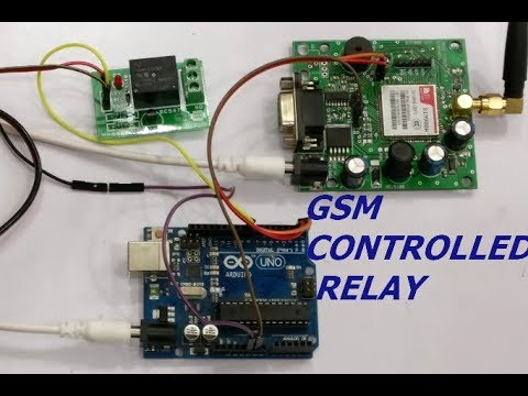 GSM controlled RELAY with Arduino | alselectro