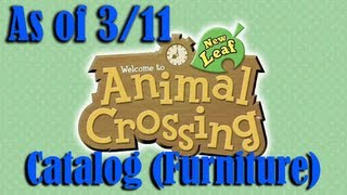 Luc's Animal Crossing New Leaf Furniture Catalog (includes Carpets And Wallpaper) As Of 3/11/2013